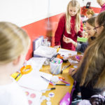 Young people taking part in creative arts