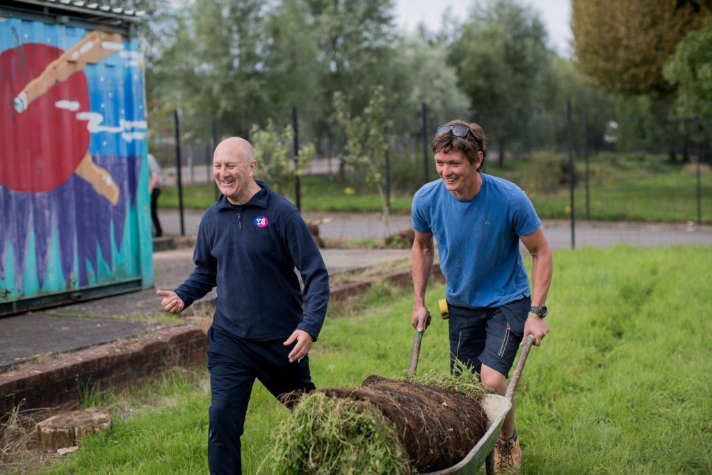 Volunteers gardening Young Bristol