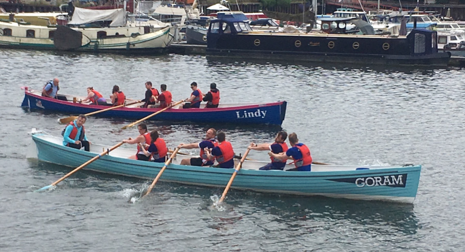 Corporates taking part in gig rowing event