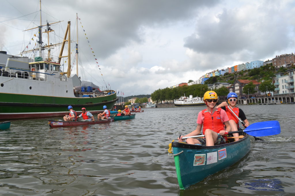 Young people on Bristol Harbour
